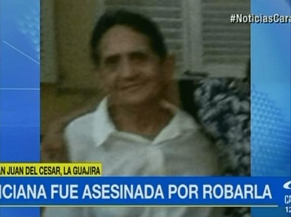 Remedios Vergara Cuello, anciana asesinada en San Juan del Cesar, La Guajira.