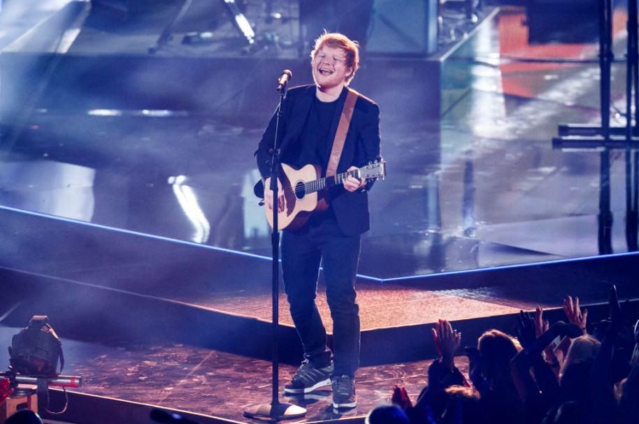 Ed Sheeran durante una presentación en los iHeartRadio Music Awards, el pasado 5 de marzo en Inglewood, California.