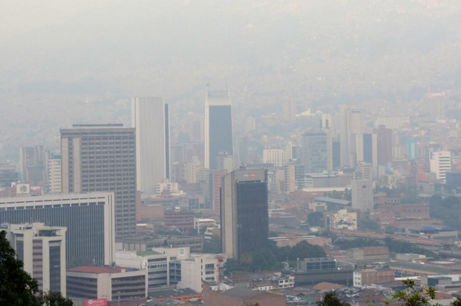 Vista aérea de Medellín