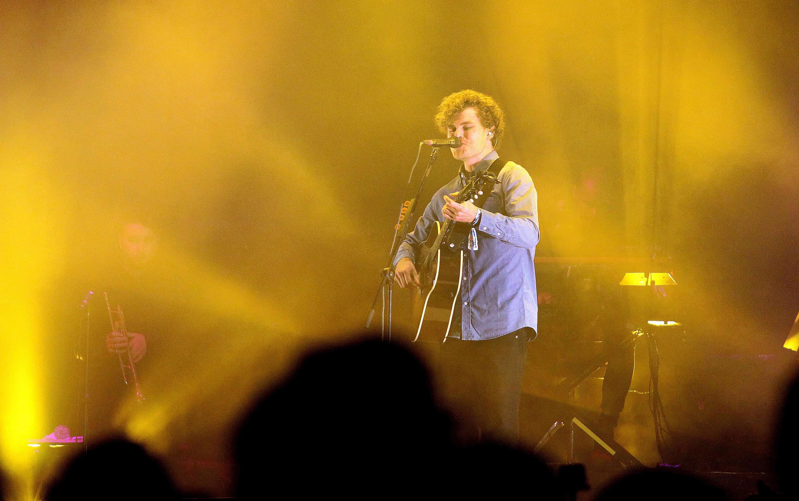 El cantante australiano Vance Joy, durante la segunda jornada del Festival Musical Estéreo Pícnic 2017, en Bogotá
