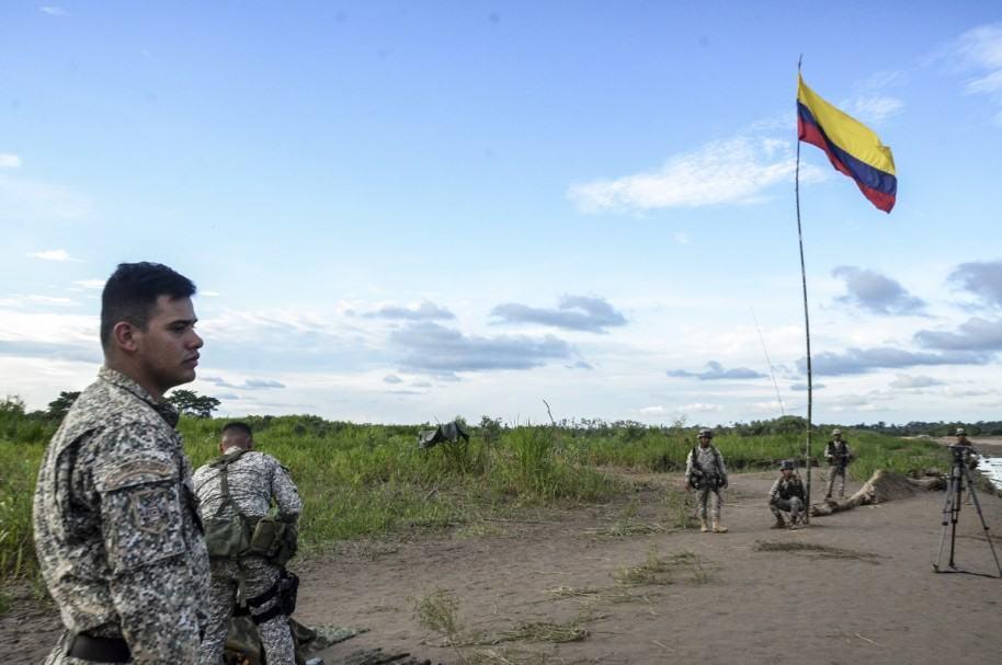 Campamento de Venezuela en Colombia