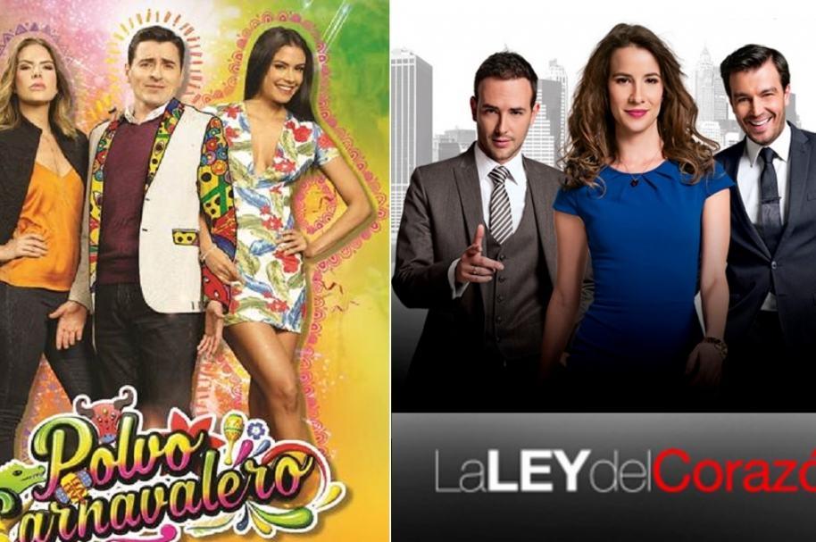 Actores de 'Polvo carnavalero' y 'La ley del corazón'.