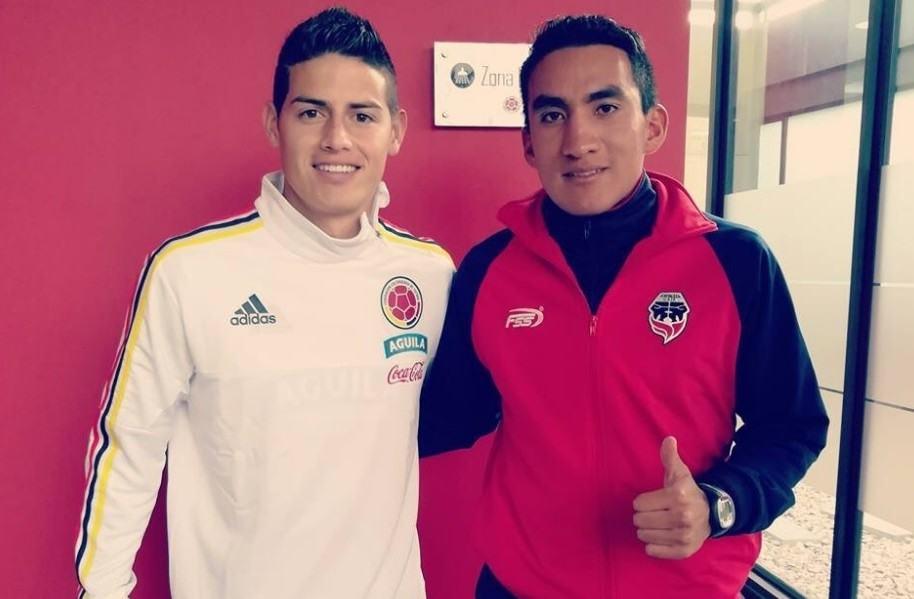 James Rodríguez después de amistoso contra Fortaleza