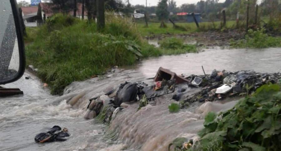 Desbordamiento del canal Torca