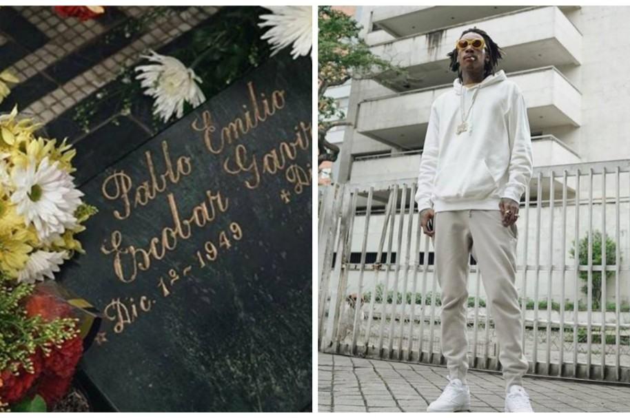 Wiz Khalifa habla de polémica foto junto a tumba de Pablo Escobar