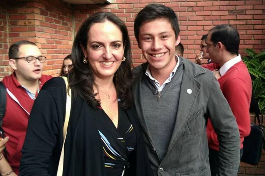 Andrés Felipe Salazar y María Fernanda Cabal
