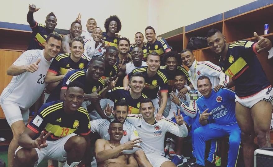 Celebración de Selección Colombia