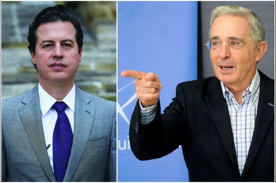 Juan Manuel Galán y Álvaro Uribe