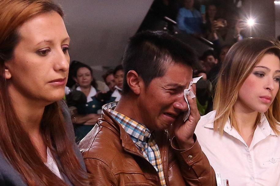 Papá de Yuliana Samboní, durante el sepelio de la pequeña