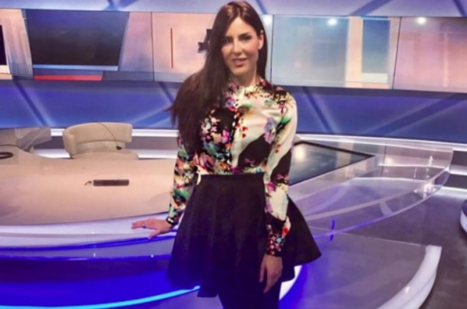 La presentadora italiana Bárbara Francesca Ovieni.