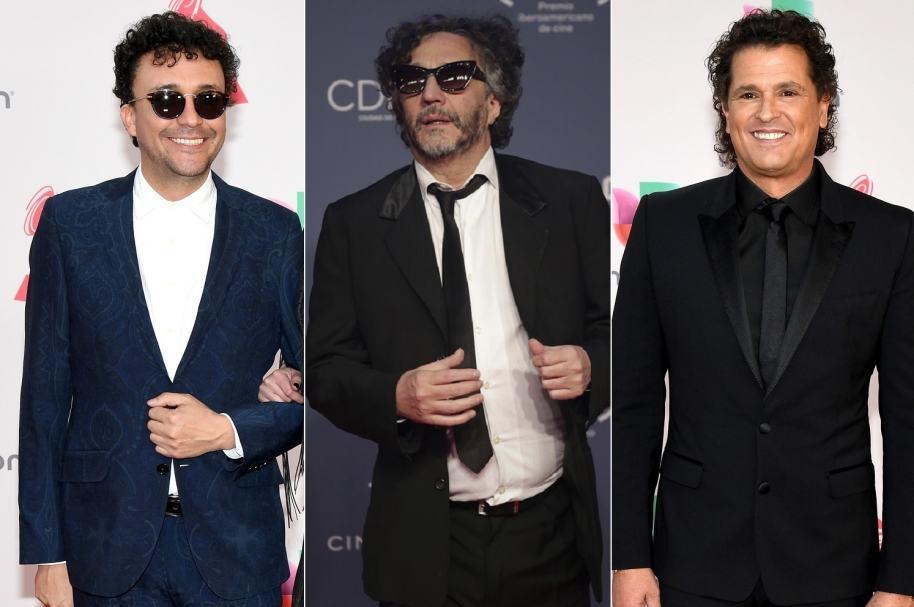 Andrés Cepeda, Fito Páez y Carlos Vives, cantantes.