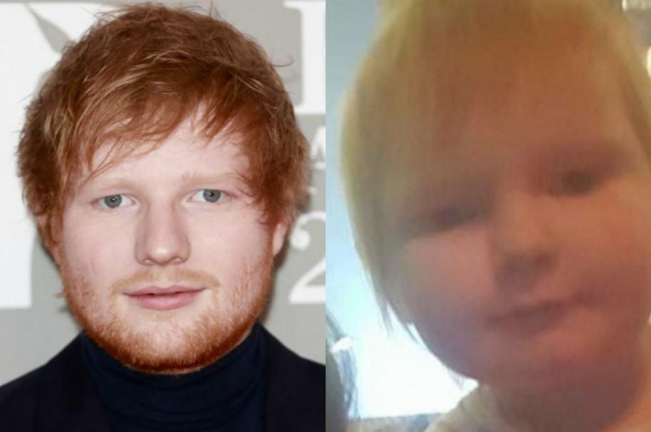 Ed Sheeran e Isla Walton, pequeña que se parece a él.