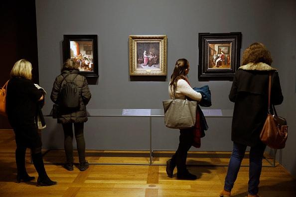 Visitantes a museo