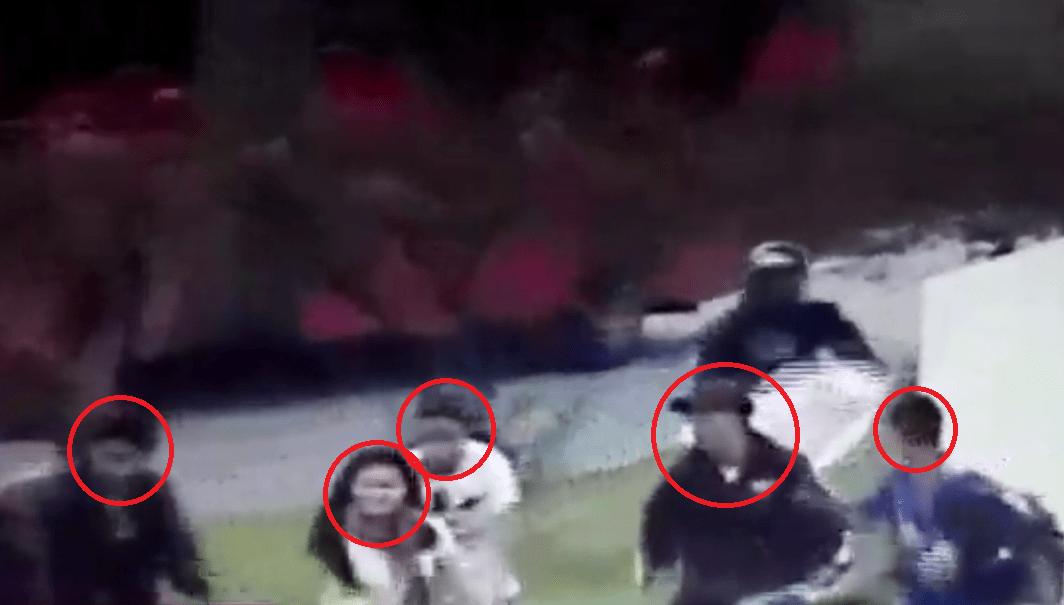 Rostros de personas que atacaron Transmileniot