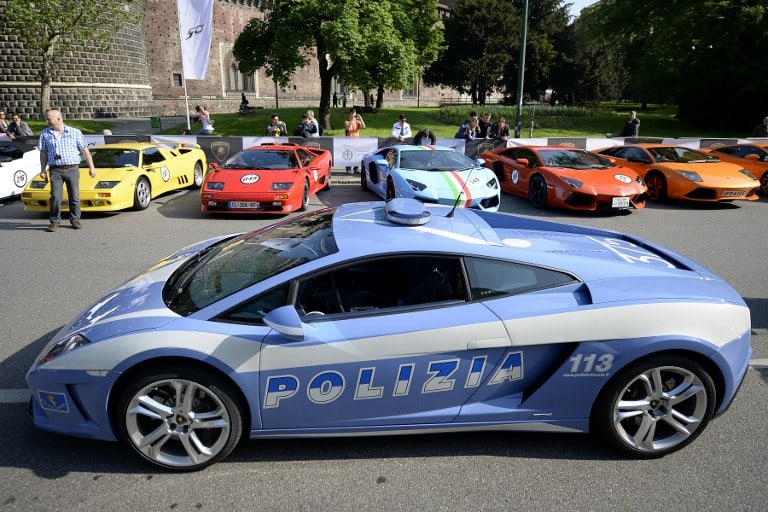 Lamborghini Gallardo retirado de la policía italiana