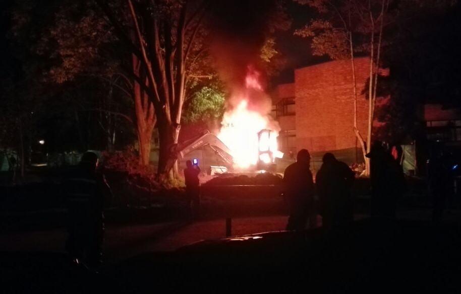 Incendio en la Universidad Nacional