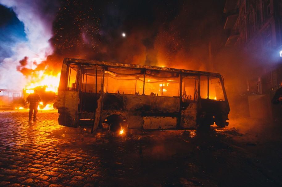 Bus incinerado (imagen de referencia)