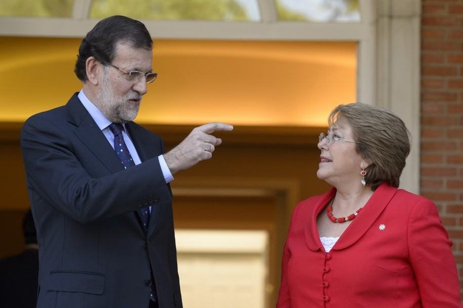 Mariano Rajoy y Michelle Bachelet