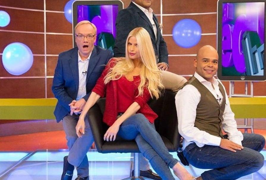 Carlos Giraldo, Frank Solano, Mary Méndez y Carlos Vargas, presentadores de 'La red'.