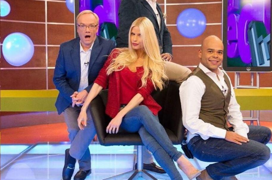 Carlos Giraldo, Mary Méndez y Carlos Vargas, presentadores de 'La red'.