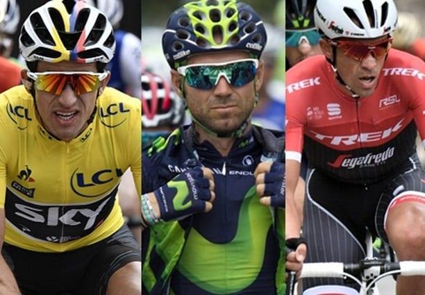 Henao,Valverde y Contador