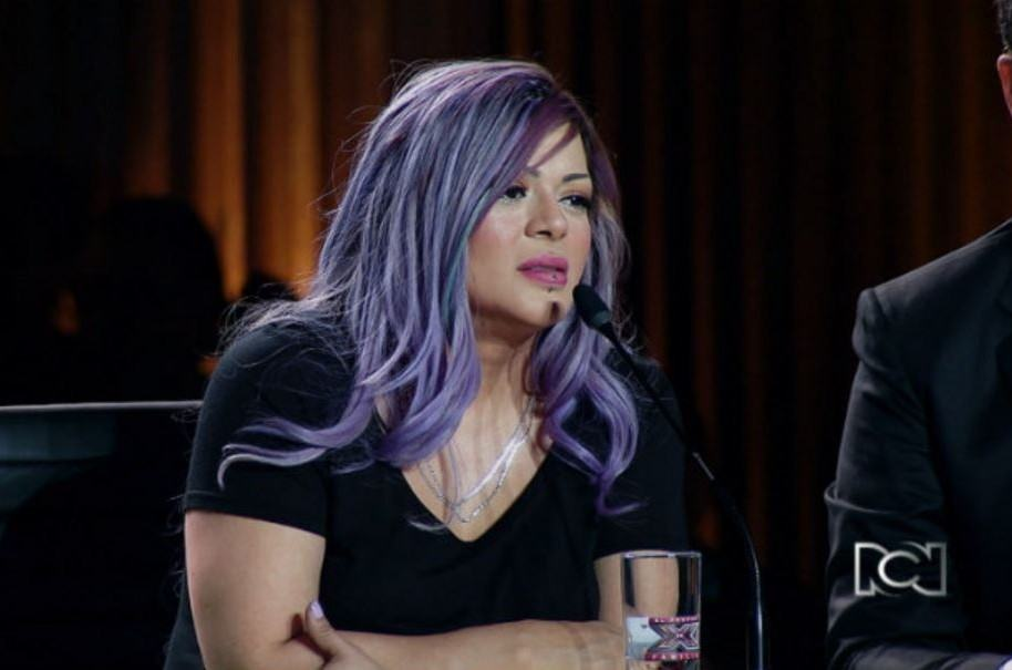 La cantante Marbelle cuando era jurado de 'Factor XF'.