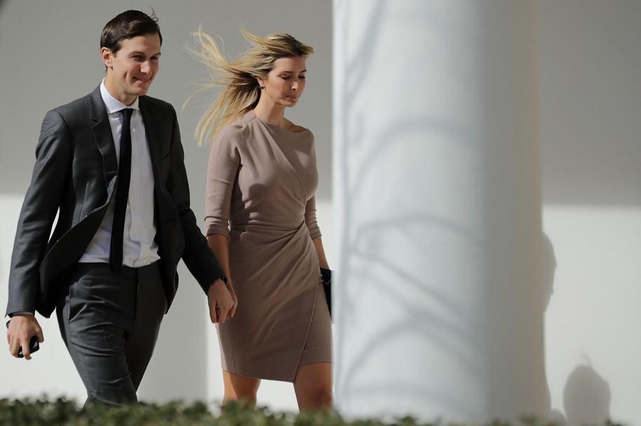 Jared Kushner e Ivanka Trump en la Casa Blanca