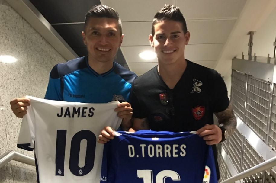 James Rodríguez y Daniel Torres