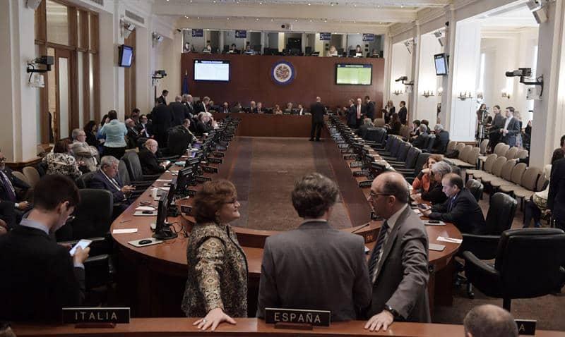 Sesión acalorada en la OEA