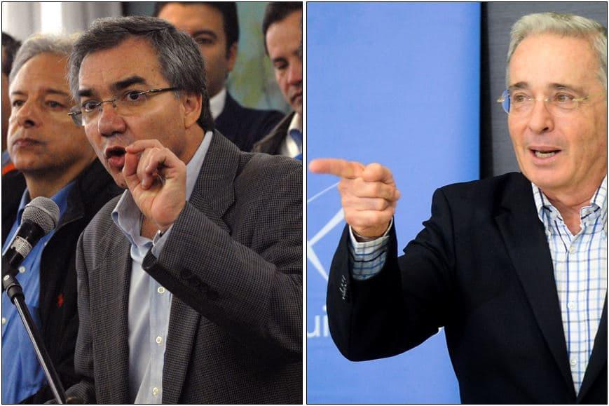 Diego Palacio y Álvaro Uribe