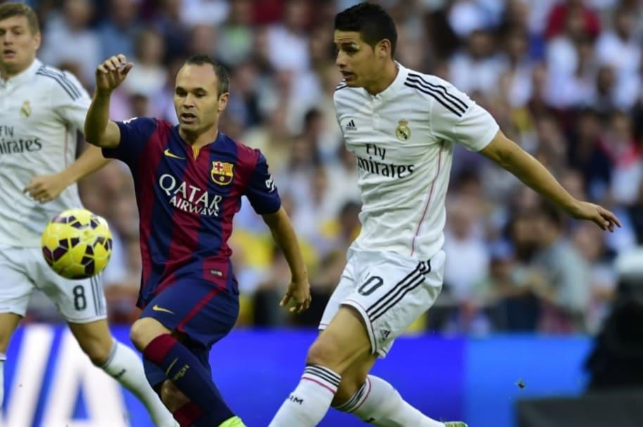 James Rodríguez en partido contra Barcelona