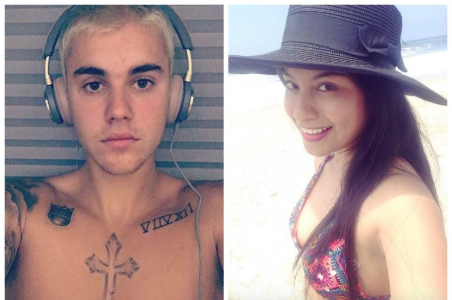 Justin Bieber y Wendy Sulca.