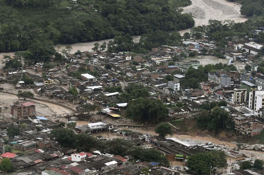 Vista aérea de Mocoa, después de la tragedia