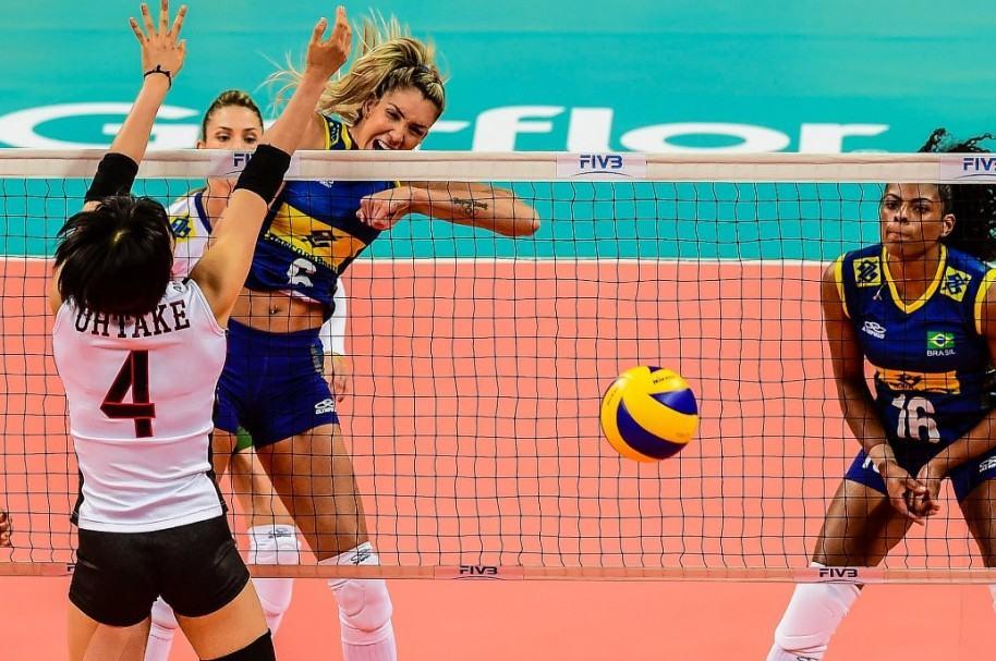 Thaisa, con la Selección Brasil