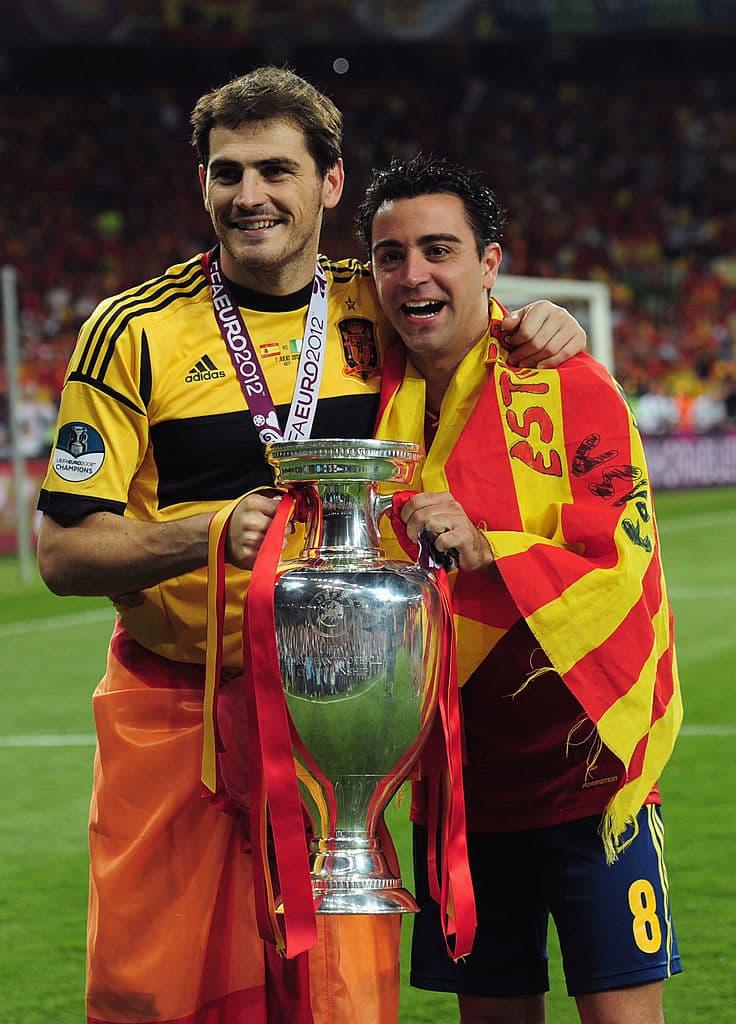 Íker Casillas y Xavi