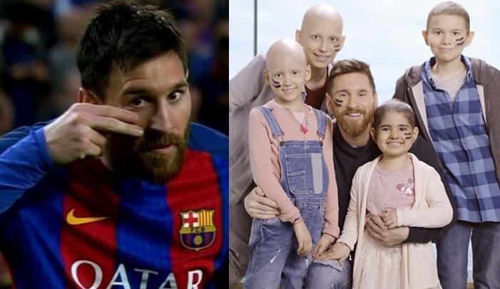 Celebración gol Messi y niños