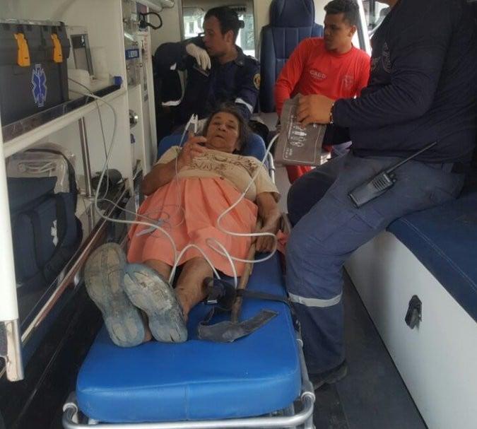 Mujer rescatada