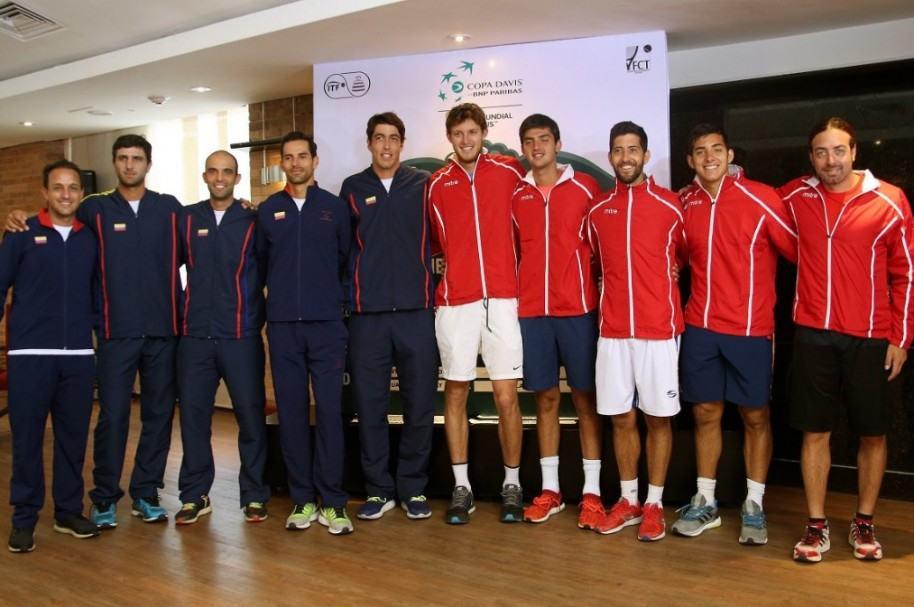 Equipos de Colombia y Chile en Copa Davis