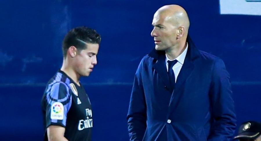 Zidane y James