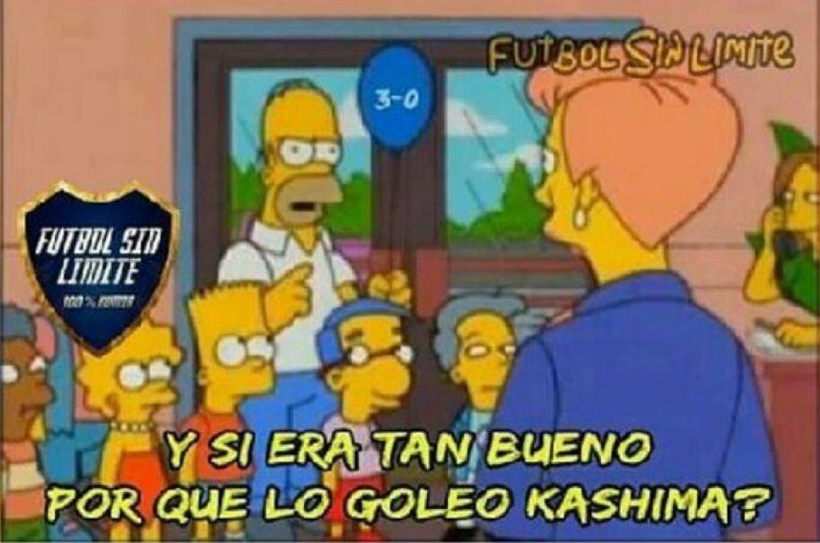 Meme de Atlético Nacional y Kashima Antlers