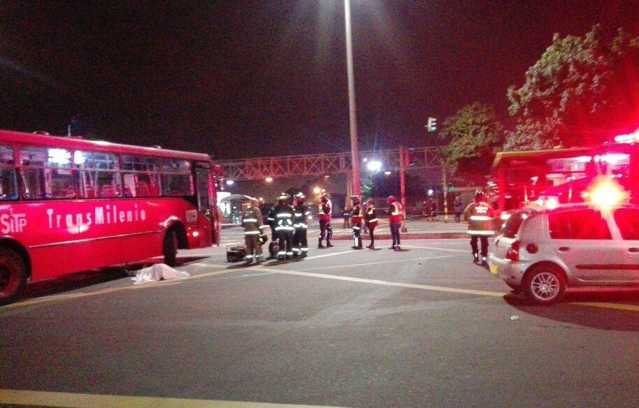 Accidente fatal frente al portal de Transmilenio de la calle 80