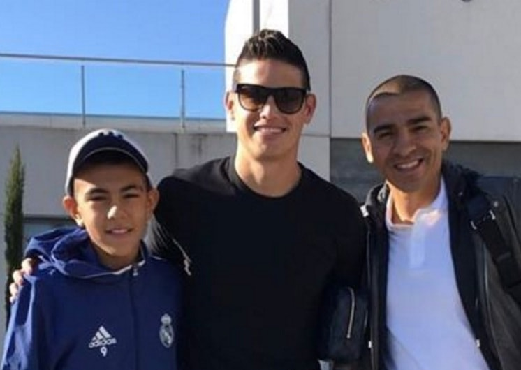 Emilio Aristizábal, James Rodríguez y Víctor Aristizábal