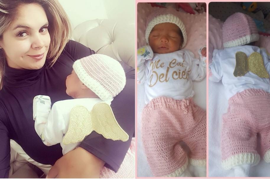 Alejandra Serje y su bebé Luciana.