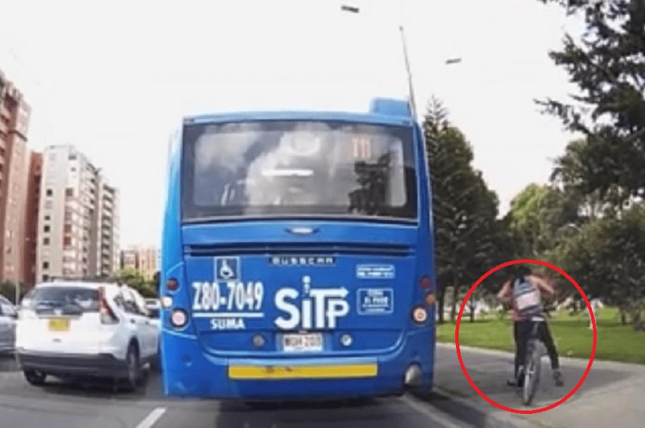 Accidente de mujer ciclista
