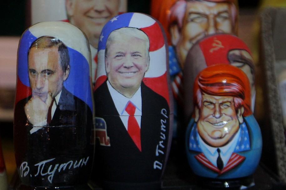 Matrioshka de Donald Trump y Vladimir Putin