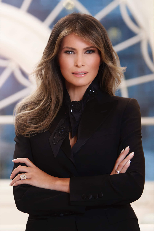 Retrato oficial de Melania Trump