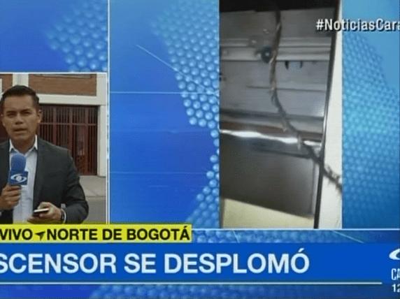 Ascensor que se desplomó en un conjunto residencial del norte de Bogotá. Pulzo.com