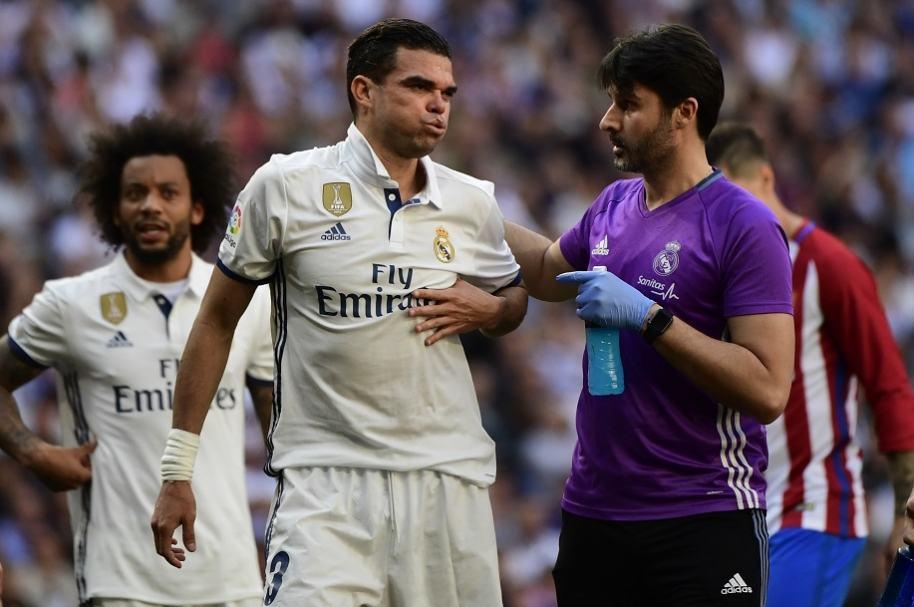 Pepe se rompe dos costillas