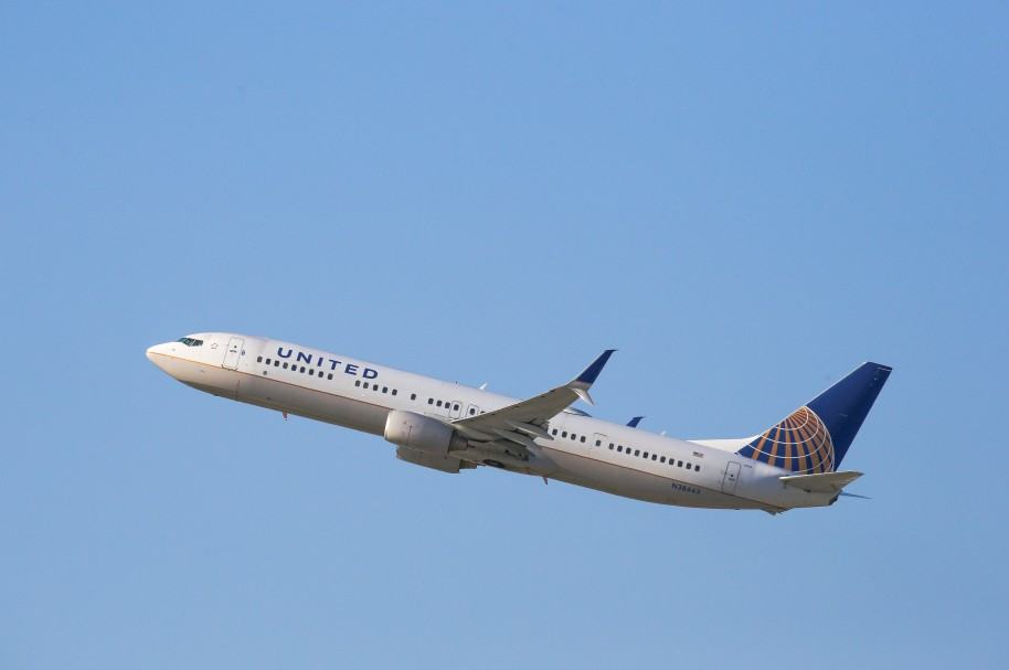 Avión de United Airlines