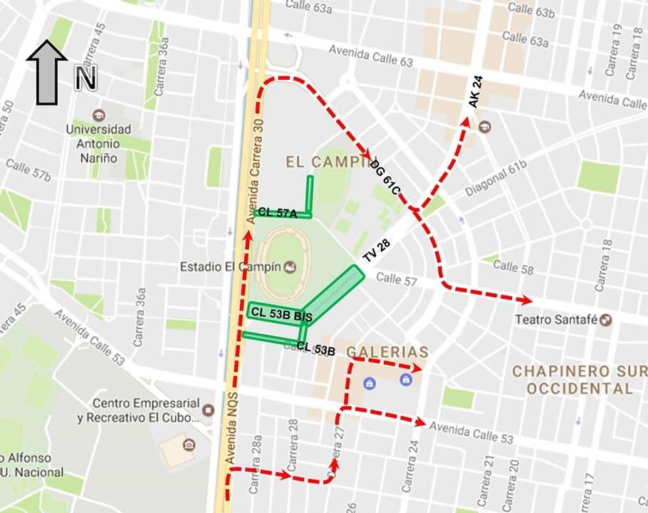 Mapa 1: Desvíos autrizados